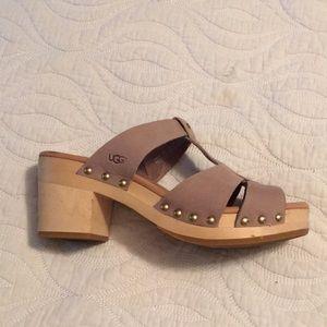 Ugg Australia wooden heel sandals.